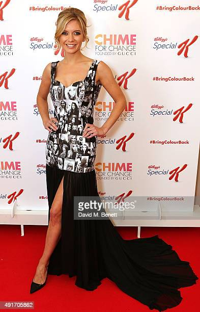 Rachel Riley attends the Special K Bring Colour Back launch at The Hospital Club on October 7 2015 in London England