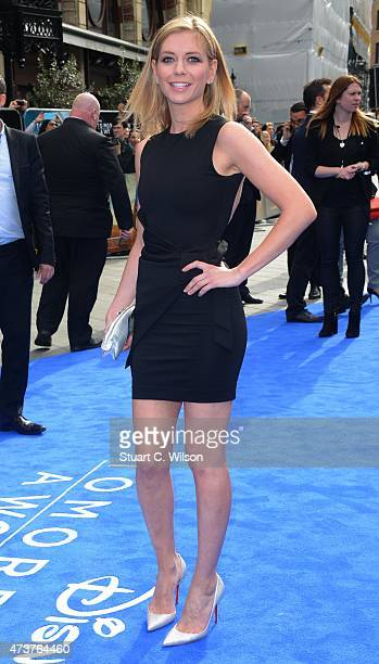 Rachel Riley attends the Tomorrowland A World Beyond European premiere at Leicester Square on May 17 2015 in London England
