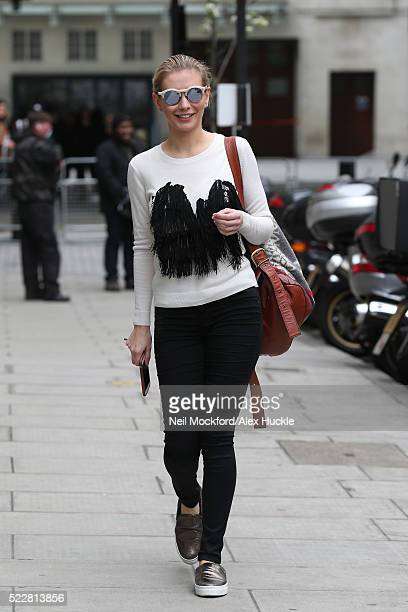Rachel Riley seen at BBC Radio One on April 21 2016 in London England