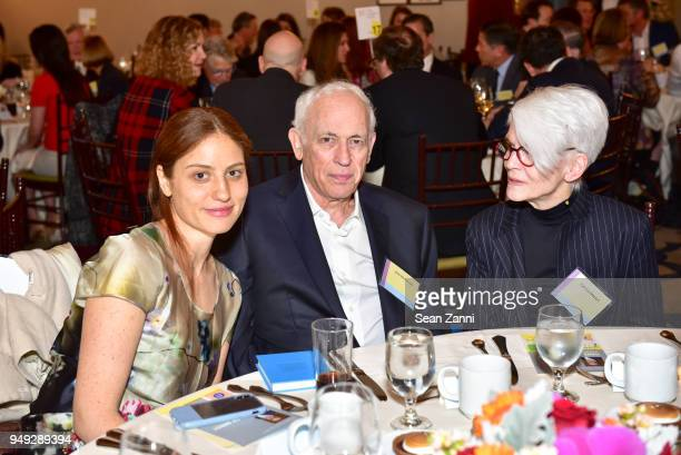 Rachel Rose John Brockman and Patinka Matson attend Appraisers Association of America Honors Hans Ulrich Obrist at 14th Annual Award Luncheon at New...