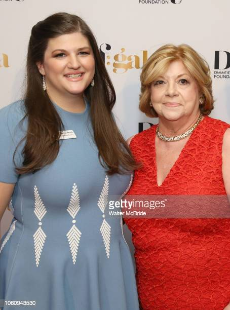 Rachel Routh and Faith Hope Consolo attend the cocktail party for the Dramatists Guild Foundation 2018 dgf gala at the Manhattan Center Ballroom on...
