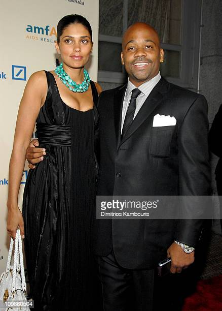 Rachel Roy and Damon Dash during 2006 Cipriani Deutsche Bank Concert Series Benefiting amfAR Lionel Richie at Cipriani Wall Street in New York City...