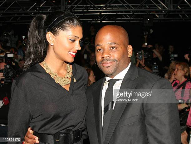 Rachel Roy and Damon Dash during Olympus Fashion Week Spring 2006 Fashion For Relief Inside at Bryant Park in New York City New York United States