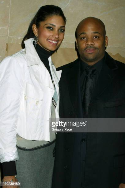 """Rachel Roy and Damon Dash, executive producer during """"The Woodsman"""" New York Cit y Premiere - Inside Arrivals at The Skirball Center in New York..."""