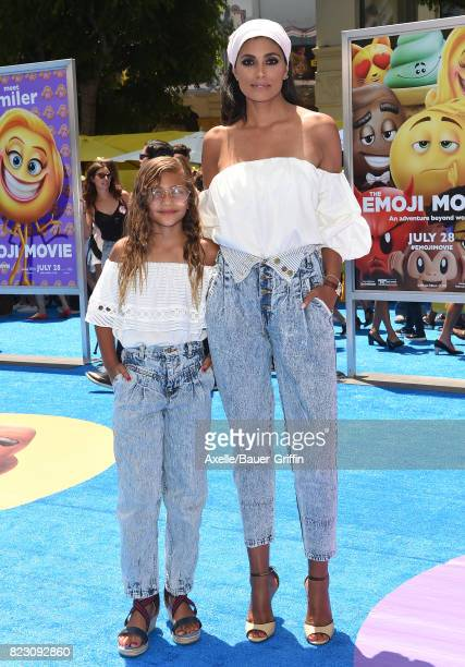 Rachel Roy and daughter Tallulah Ruth Dash arrive at the premiere of 'The Emoji Movie' at Regency Village Theatre on July 23 2017 in Westwood...