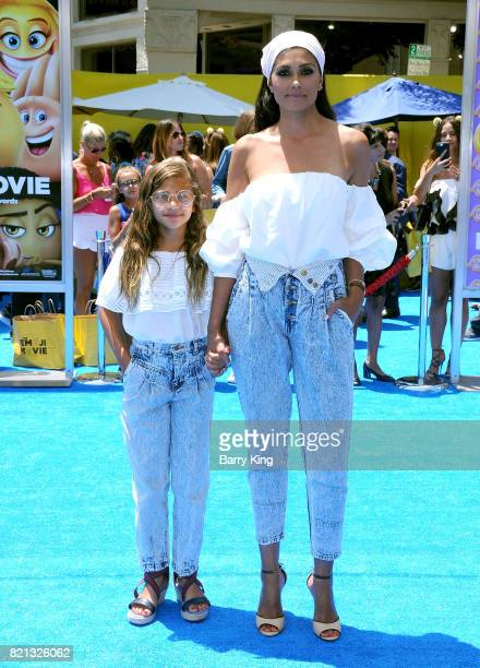Rachel Roy and daughter Tallulah Ruth Dash attend the premiere of Columbia Pictures and Sony Pictures 'The Emoji Movie' at Regency Village Theatre on...