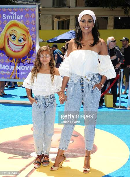 Rachel Roy and daughter Tallulah Ruth Dash attend the premiere of The Emoji Movie at Regency Village Theatre on July 23 2017 in Westwood California