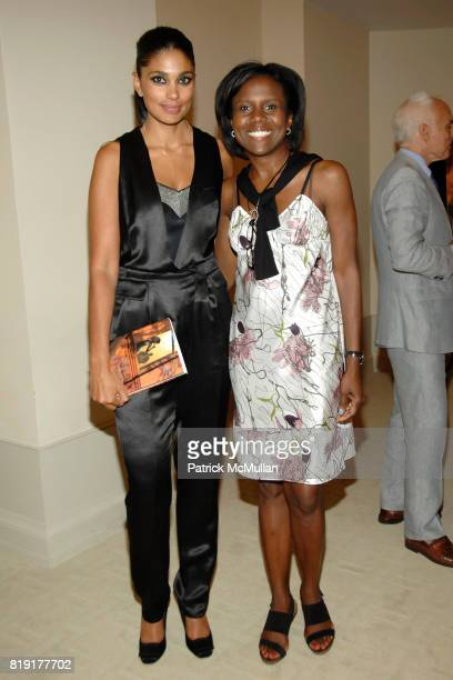 Rachel Roy and Deborah Roberts attend Susan FalesHill's ONE FLIGHT UP Book Launch Party at 15 Central Park West on July 21st 2010 in New York City