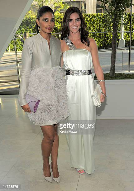 Rachel Roy and Hilary Rhoda attends the 2010 CFDA Fashion Awards at Alice Tully Hall, Lincoln Center on June 7, 2010 in New York City.
