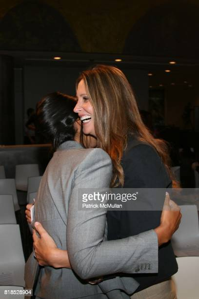 Rachel Roy and Stephanie Winston Wolkoff attend A Life in Fashion presentation by LINCOLN CENTER IMG CFDA and NYCHA for the youth of NYCHA at David...