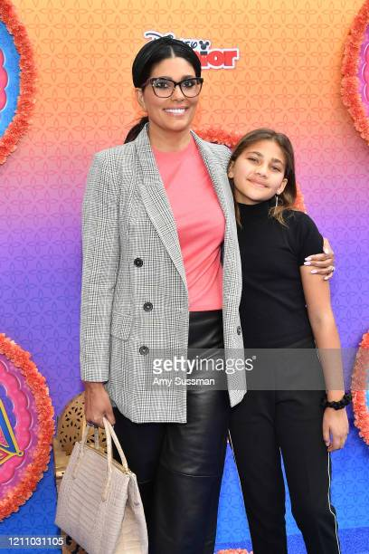 Rachel Roy and Tallulah Ruth Dash attend the premiere of Disney Junior's Mira Royal Detective at Walt Disney Studios Main Theater on March 07 2020 in...