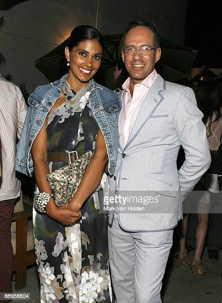 Rachel Roy and The Cinema Society Founder Andrew Saffir attend an after party following a screening of '500 Days Of Summer' hosted by The Cinema...