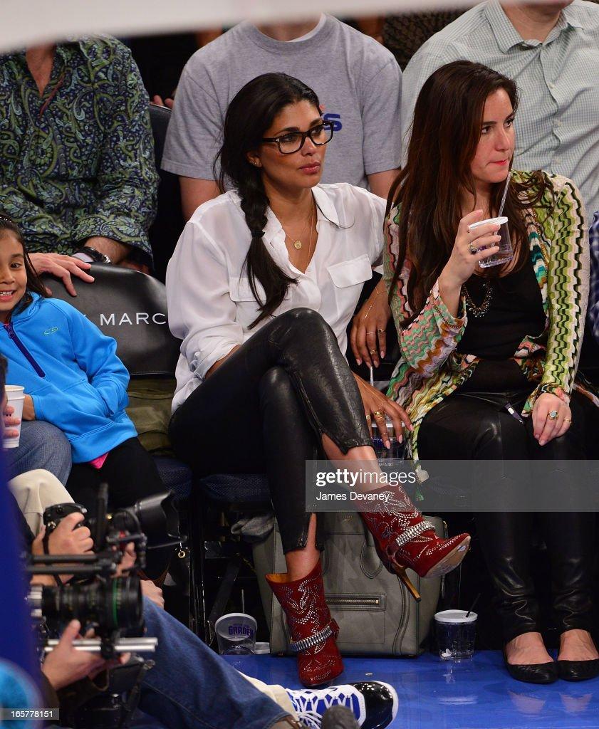 Rachel Roy attends the Milwaukee Bucks vs New York Knicks game at Madison Square Garden on April 5, 2013 in New York City.