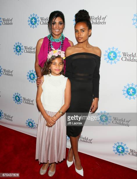 Rachel Roy Ava Dash and Tallulah Ruth Dash attend the 2017 World Of Children Hero Awards on April 19 2017 in Beverly Hills California