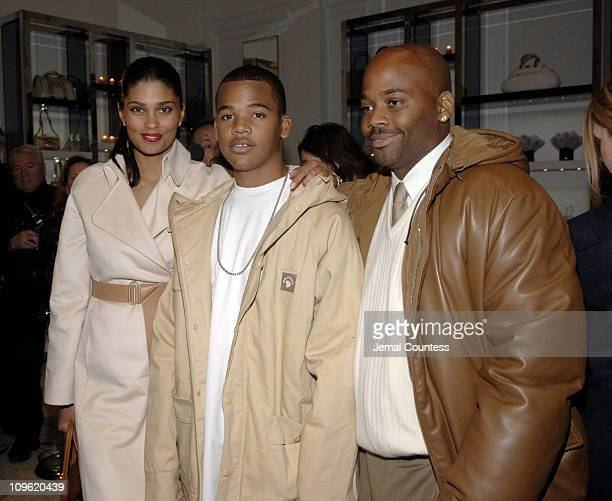 Rachel Roy Boogie Dash and Damon Dash during Versace Celebrates the ReOpening of the Fifth Ave Boutique at Versace Boutique in New York City New York...