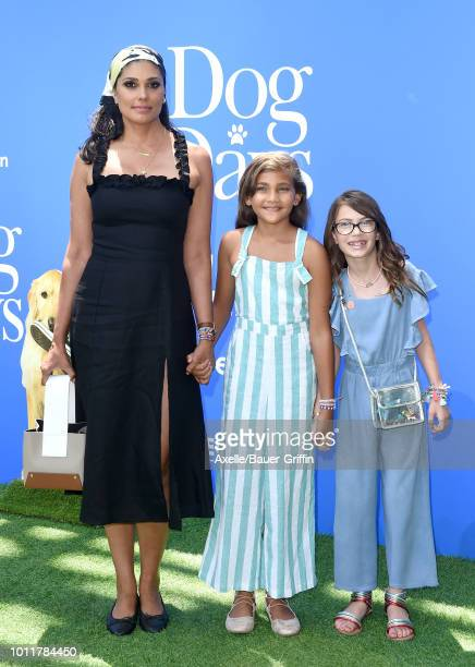 Rachel Roy daughter Tallulah Ruth Dash and guest arrive at the premiere of LD Entertainment's 'Dog Days' at Westfield Century City on August 5 2018...