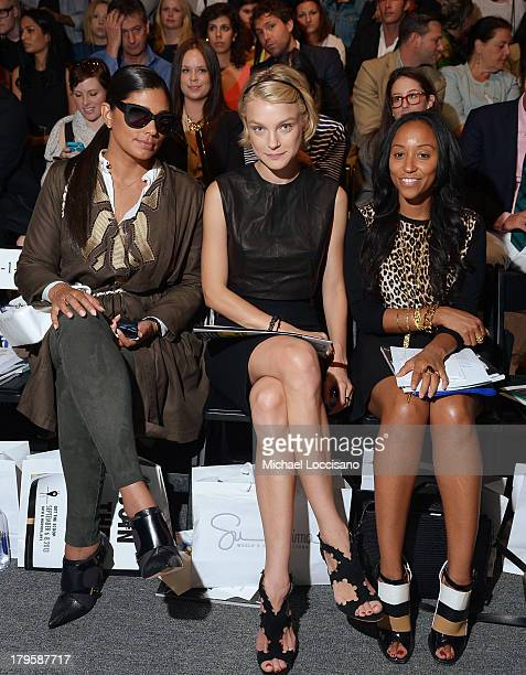 Rachel Roy Jessica Stam and Shiona Turini attend the Supima Spring 2014 fashion show during MercedesBenz Fashion Week at The Studio at Lincoln Center...