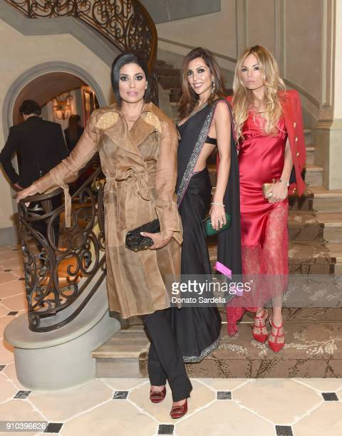 Rachel Roy Priyanka Khanna and Erica Pelosini attend Learning Lab Ventures Gala in Partnership with NETAPORTER on January 25 2018 in Beverly Hills...