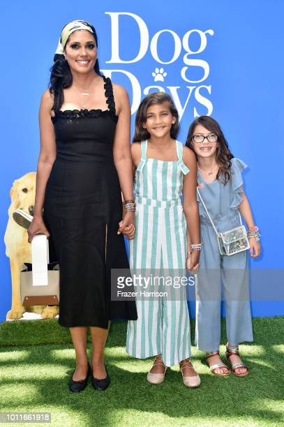 Rachel Roy with Tallulah Ruth Dash and guest attend the premiere of LD Entertainment's Dog Days at Westfield Century City on August 5 2018 in Century...