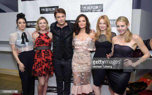 Rachel Royale Chantelle Albers Kash Hovey Jamie Bernadette Jessica Morris and Kathy Kolla attend the Los Angeles premiere of The Asylum's The 6th...