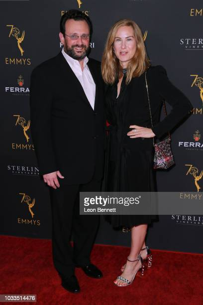 Rachel Shane and guest attend the Television Academy Honors Emmy Nominated Producers at Montage Beverly Hills on September 14 2018 in Beverly Hills...