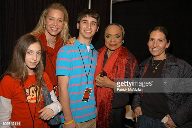 Rachel Shapiro Kate Shapiro Dylan Brown Plofker Eartha Kitt and Bobbi Brown at The Heart Truth Red Dress Collection Fall 2006 at The Tent at Bryant...