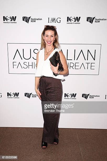 Rachel Sharp arrives at the Australian Fashion Laureate Awards on October 19 2016 in Sydney Australia