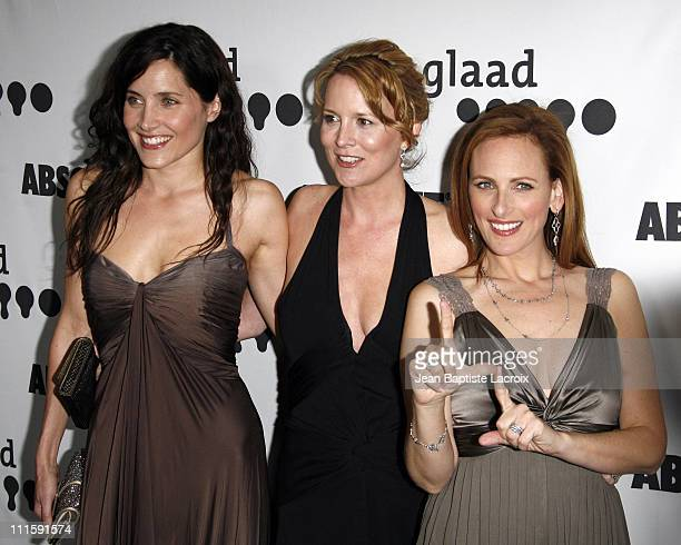 Rachel Shelley Laurel Holloman and Marlee Matlin during 18th Annual GLAAD Media Awards Los Angeles Arrivals at Kodak Theatre in Hollywood California...