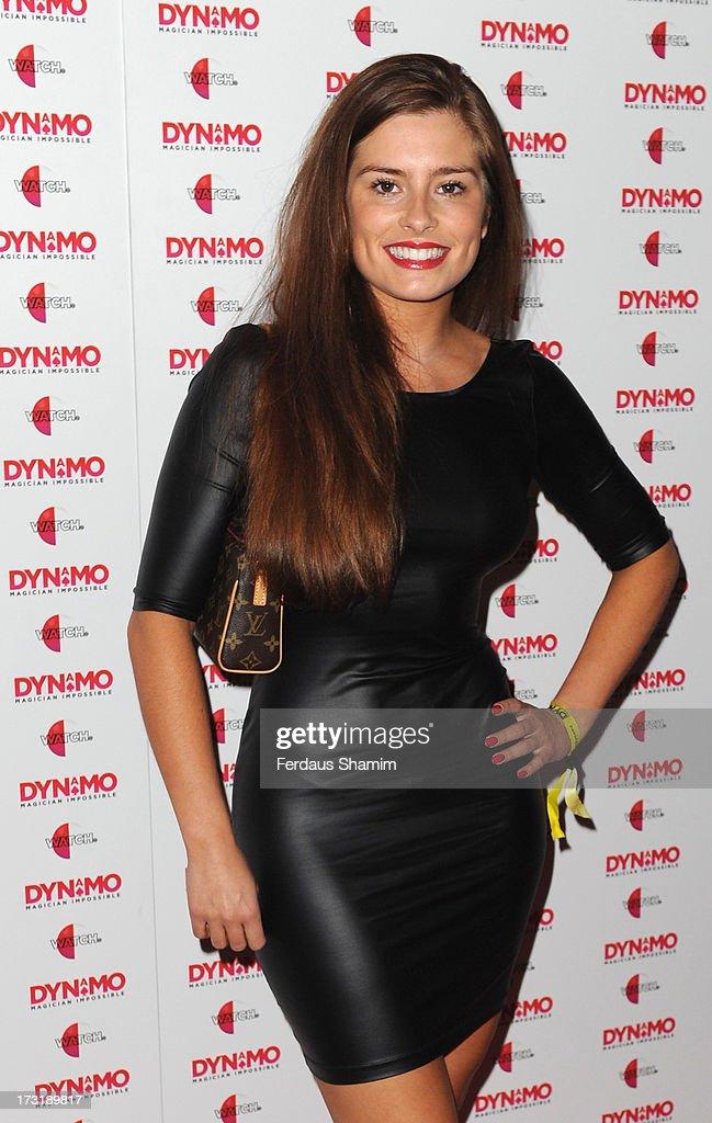 Rachel Shenton attends Dynamo's secret London gig on July 9, 2013 in London, England.