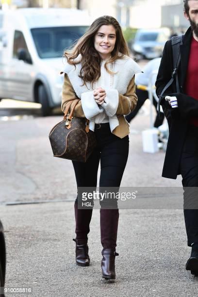 Rachel Shenton seen at the ITV Studios on January 25 2018 in London England