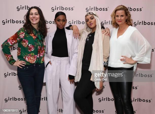 Rachel Sklar Nafessa Williams Amani AlKhatahtbeh and Allana Harkin attend Girlboss Rally NYC 2018 at Knockdown Center on November 17 2018 in Maspeth...