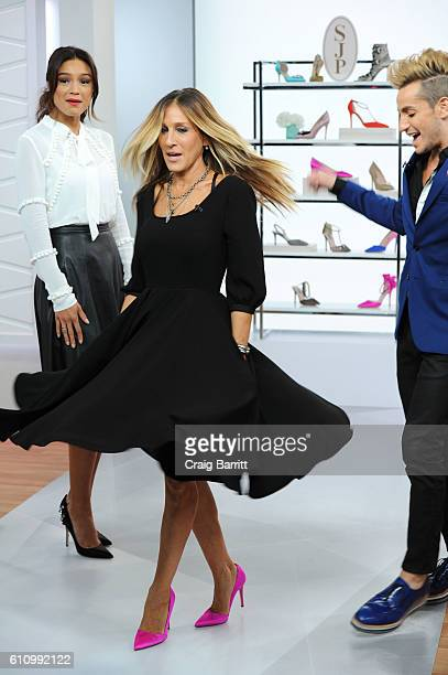 Rachel Smith and special guest Sarah Jessica Parker films an episode of Amazon's Live Stream Fashion and Beauty Show 'Style Code Live' on September...