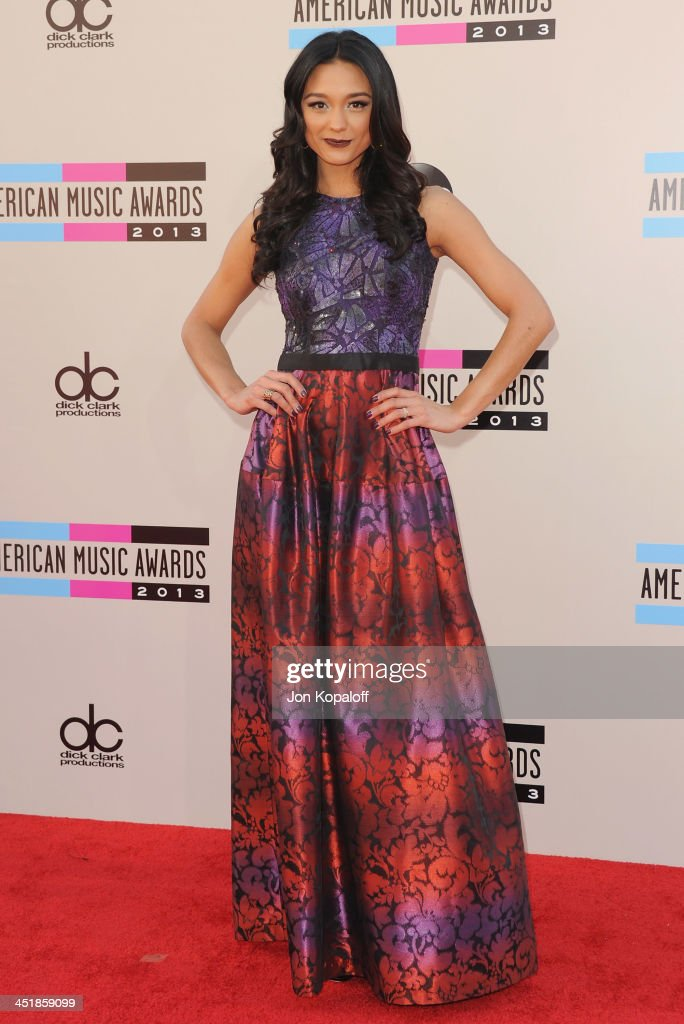 Rachel Smith arrives at the 2013 American Music Awards at Nokia Theatre L.A. Live on November 24, 2013 in Los Angeles, California.