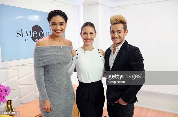 Rachel Smith KaDee Strickland and Frankie Grande appear on Amazon's Style Code Live on January 4 2017 in New York City