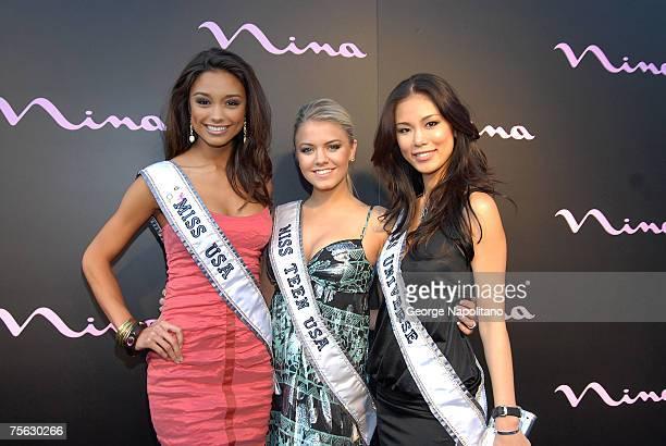 Rachel Smith Miss USA Katie Blair Miss Teen USA and Riyo Mori Miss Universe