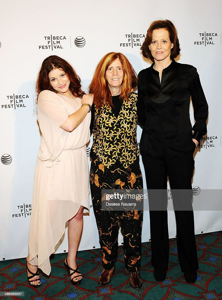 Rachel Stern, director/ screenwriter Elizabeth Swados, and Sigourney Weaver attend the Shorts Program: City Limits during the 2014 Tribeca Film Festival at AMC Loews Village 7 on April 24, 2014 in New York City.