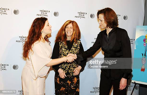Rachel Stern director/ screenwriter Elizabeth Swados and Sigourney Weaver attend the Shorts Program City Limits during the 2014 Tribeca Film Festival...