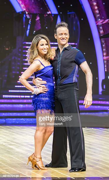 Rachel Stevens and Kevin Clifton attends a photocall to launch the Strictly Come Dancing Live Tour 2015 at Birmingham Barclaycard Arena on January 15...