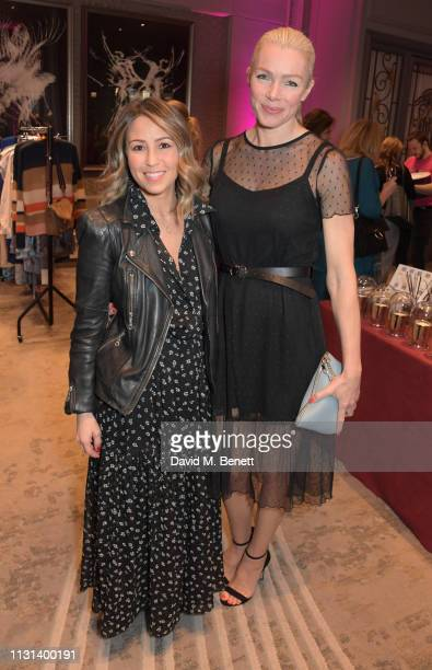 Rachel Stevens and Nell McAndrew attend the Rainbow Trust Children's Charity's annual 'Trust In Fashion' fundraiser at The Grosvenor House Hotel on...