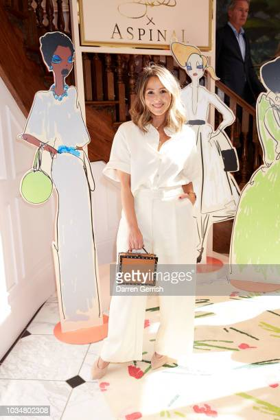 Rachel Stevens attends Giles x Aspinal SS19 press day as part of London Fashion Week 2018 on September 17 2018 in London UK