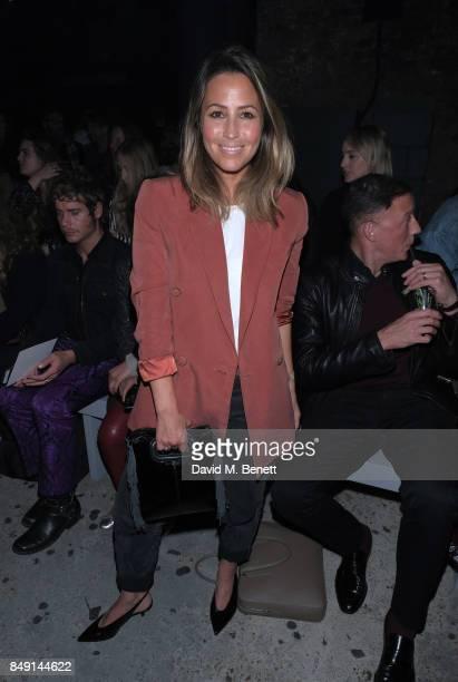 Rachel Stevens attends Julien Macdonald Spring Summer 2018 Show sponsored by Ciroc at The Bankside Vaults on September 18 2017 in London England