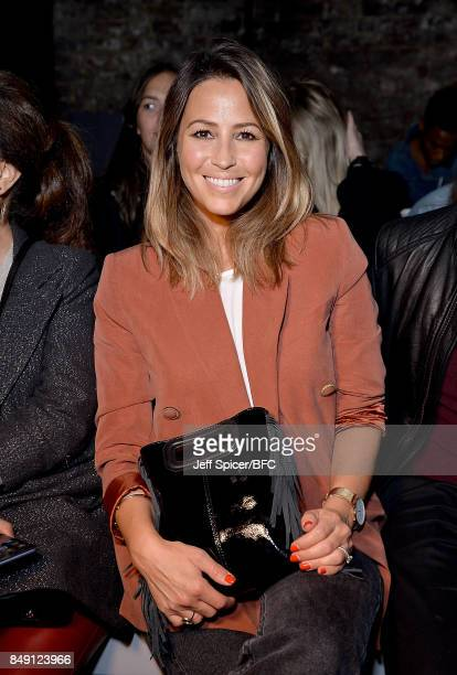 Rachel Stevens attends the Julien Macdonald show during London Fashion Week September 2017 on September 18 2017 in London England