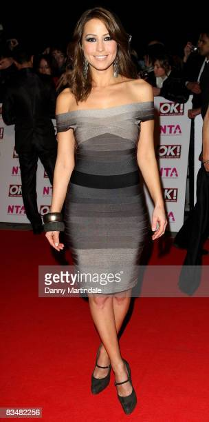 Rachel Stevens attends the The National Television Awards 2008 in the Royal Albert Hall on October 29 2008 in London England