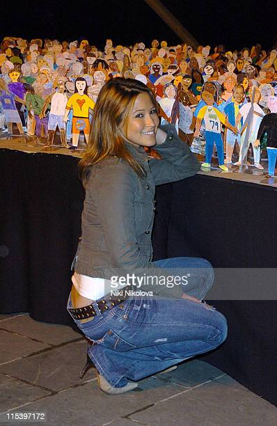 Rachel Stevens during Rachel Stevens Opens 'Send My Friend To School' Exhibition at Oxo Tower in London Great Britain
