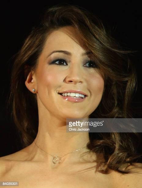 Rachel Stevens helps launch Virgin Media's new 50mb Broadband Service at the Hospital Club on December 15 2008 in London England