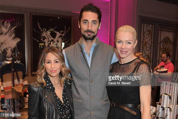 Rachel Stevens Hugo Taylor and Nell McAndrew attend the Rainbow Trust Children's Charity's annual 'Trust In Fashion' fundraiser at The Grosvenor...