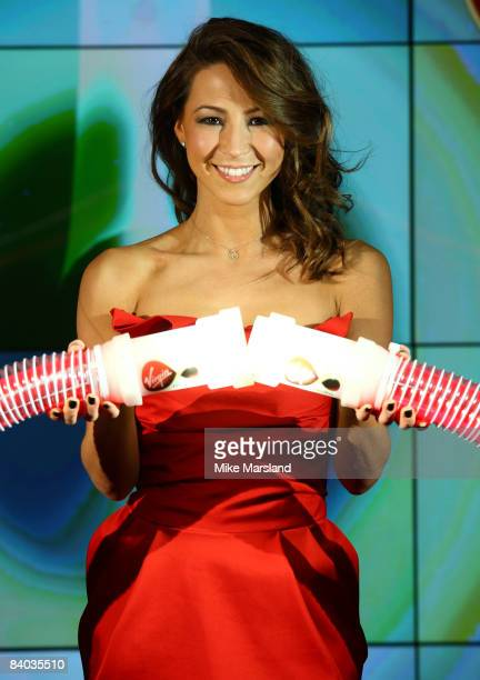 Rachel Stevens launches the new Virgin Media 50Mb Broadband Service at The Hospital Club on December 15 2008 in London England
