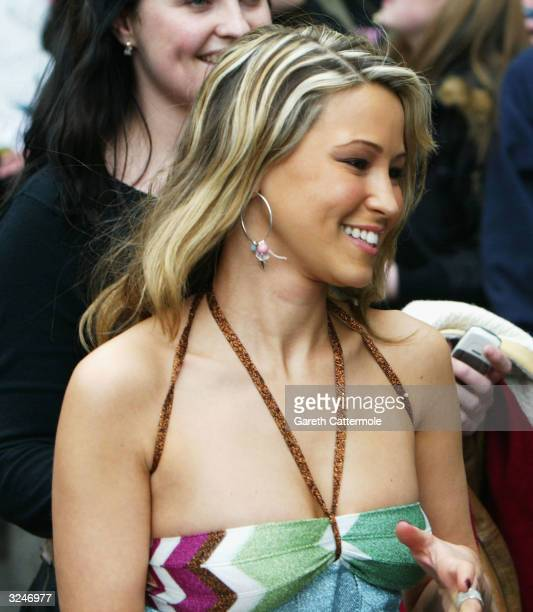 Rachel Stevens leaves the Capital FM Awards April 7, 2004 at the Lancaster Gate Hotel in London.