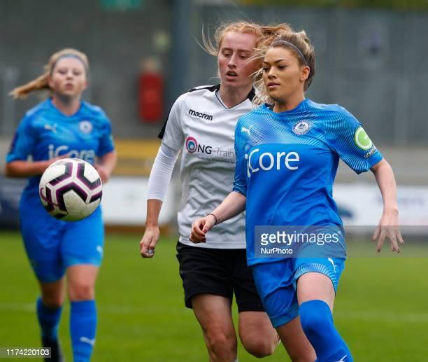 LR Rachel Stevens of Dartford FC Women and Courtney Lumley of Billericay Town Ladies during Women's FA Cup 2nd Round Qualifier between Dartford FC...