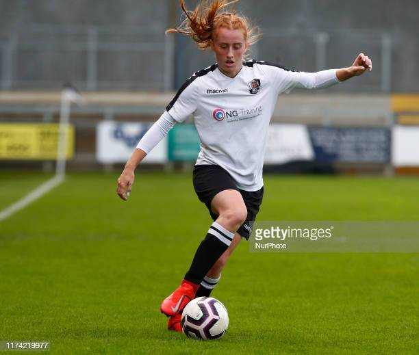 Rachel Stevens of Dartford FC Women during Women's FA Cup 2nd Round Qualifier between Dartford FC Women and Billericay Town Ladies at Princes Park...